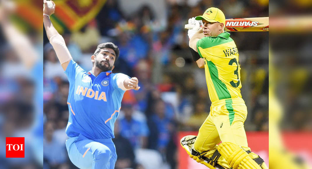 India vs Australia: David Warner surprised by Jasprit Bumrah's yorkers, bouncers - Times of India