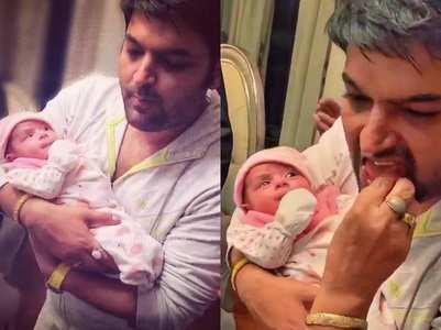 Kapil's first photos with his baby are adorable