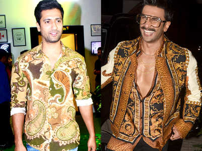 Vicky Kaushal gives serious competition to Ranveer Singh in this paisley print shirt