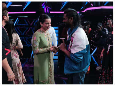 Kangana shares a candid moment with Remo