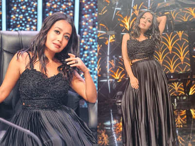Neha Kakkar sizzles in a black outfit