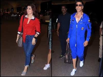 Akki,Twinkle leave for anniversary celebration