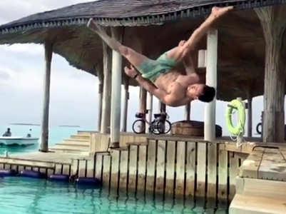 Watch: Tiger Shroff nails a backflip