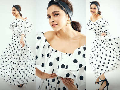 Deepika rocks polka dots for 'Chhapaak' event