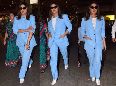 Priyanka Chopra arrives in the city