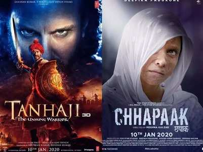 'Tanhaji' Vs 'Chhapaak' early BO estimate
