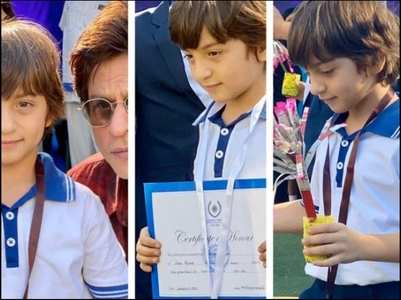 Photo: SRK is a proud papa as AbRam wins big