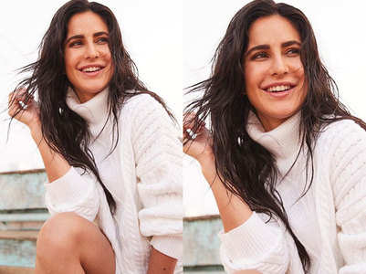 PIC:Katrina makes a knit sweater look sexy
