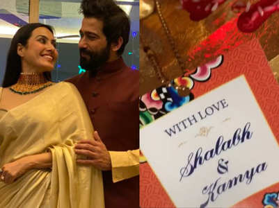 Kamya, Shalabh's wedding card; first look