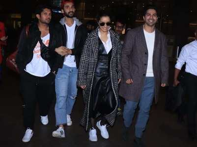 Varun-Shraddha arrive in style at the airport
