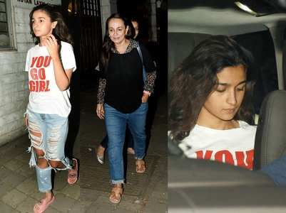 Photos: Alia Bhatt opts for a no-makeup look
