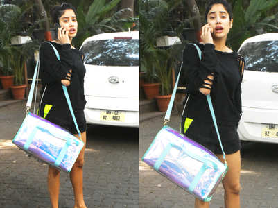 How much do you think Janhvi's GYM bag costs?