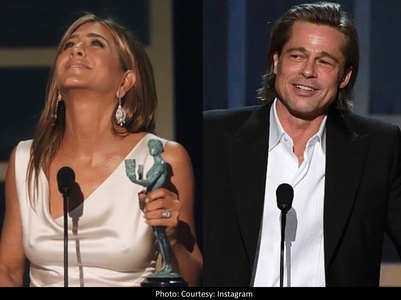 Brad-Jennifer's reunion at SAG Awards