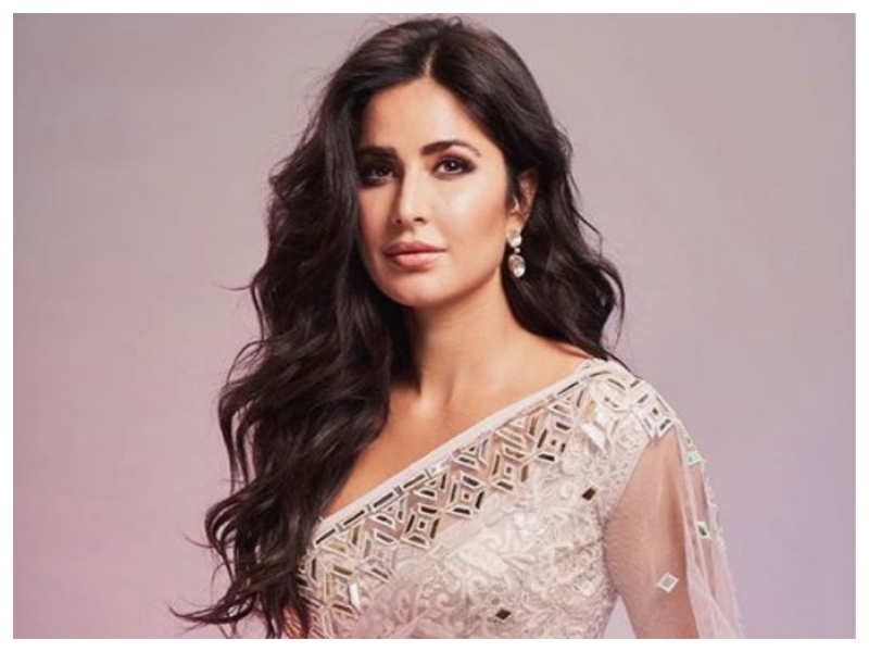 Katrina Kaif paints a pretty picture as she dolls up in a white dazzling saree