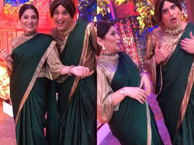 Krushna and Archana twin in a saree; see pic