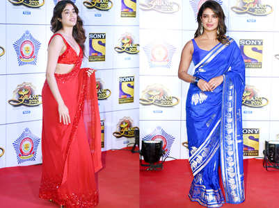 From Janhvi Kapoor's red sari to Priyanka Chopra's blue sari: Who wore what at Umang 2020