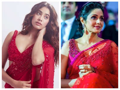 Janhvi's red saree look a tribute to Sridevi?