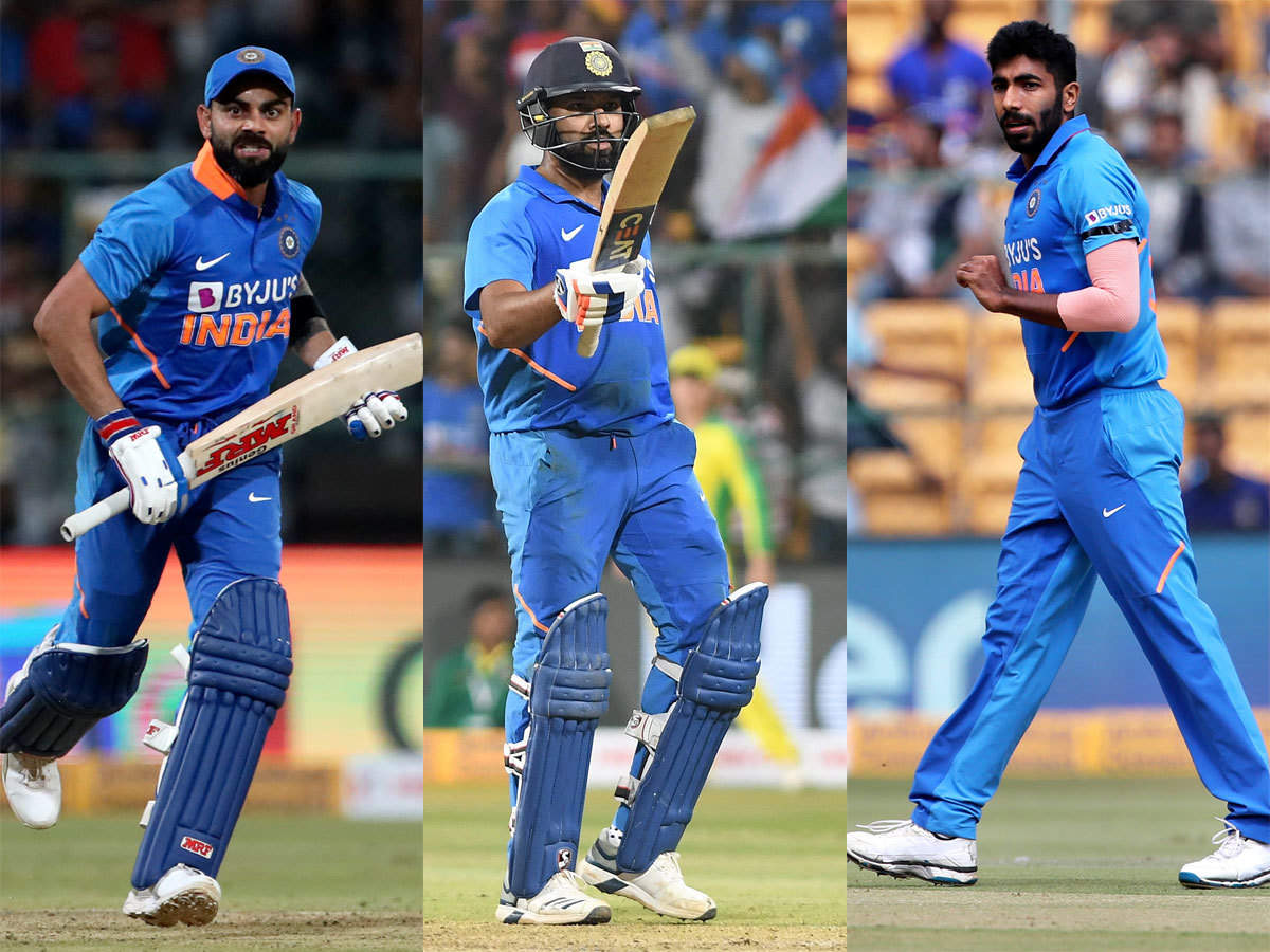 Virat Kohli, Rohit Sharma consolidate top batting positions; Jasprit Bumrah  leads bowlers pack in ICC ODI rankings | Cricket News - Times of India