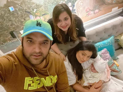 Richa Sharma meets Kapil Sharma's newborn