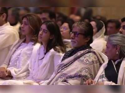 Ritu Nanda prayer meet: Big B's speech