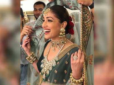 Yami turns a beautiful bride for a photoshoot