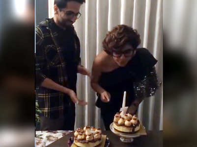 Watch: Tahira celebrates bday with Ayushmann