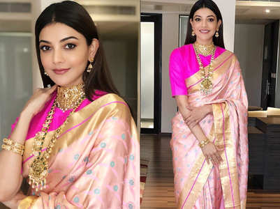 Kajal Aggarwal's sari is every bride's dream drape