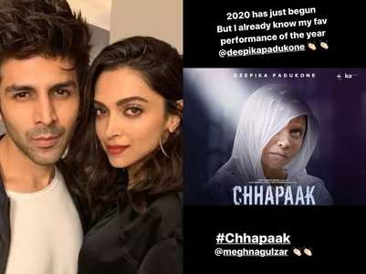 Kartik is all praise for Deepika's 'Chhapaak'