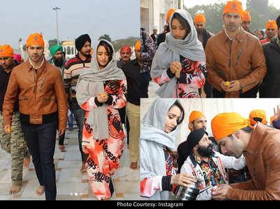 Pics: Varun-Shraddha visit Delhi Gurudwara