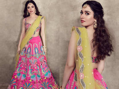 Tamannaah Bhatia wore the most gorgeous lehenga for her bestie's wedding