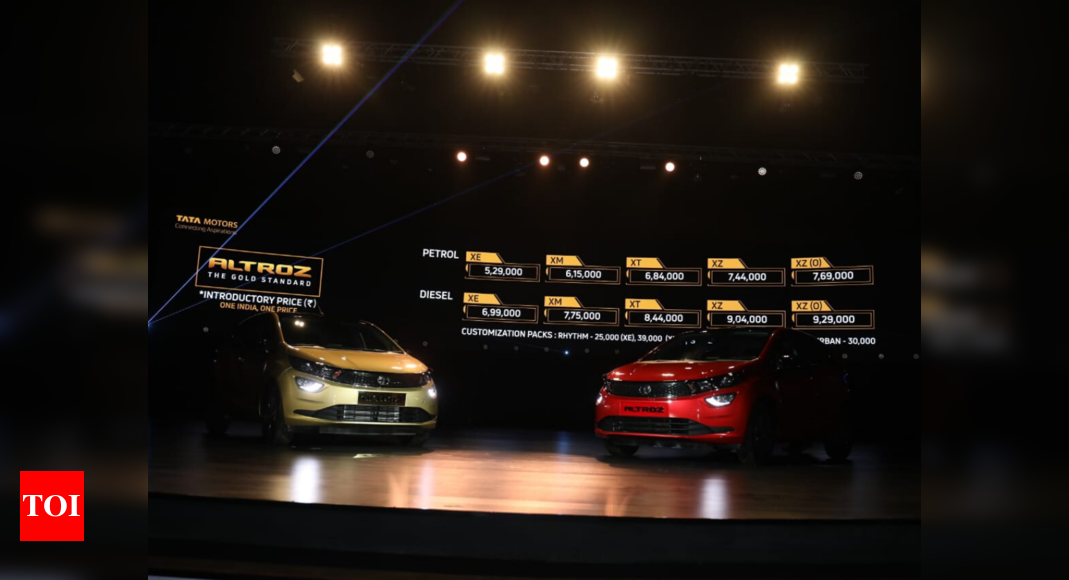 Tata Altroz launched, price starts at Rs 5.29 lakh - Times of India thumbnail