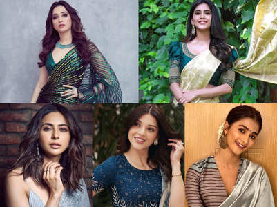 Tollywood actresses in traditional saree