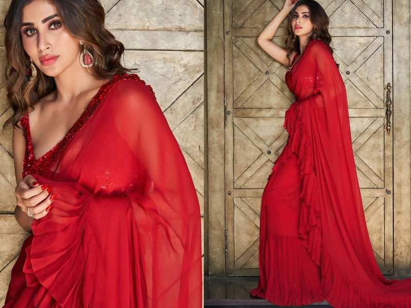 Mouni Roy is breaking the internet as she stuns a red saree in these pictures | Hindi Movie News - Times of India