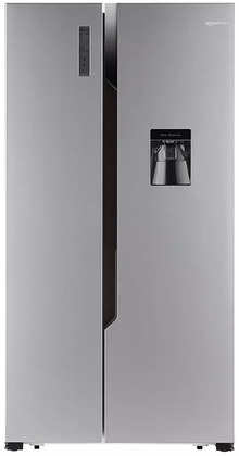 AmazonBasics 564 L Frost Free Side-by-Side Refrigerator with Water Dispenser - Silver VCM finish