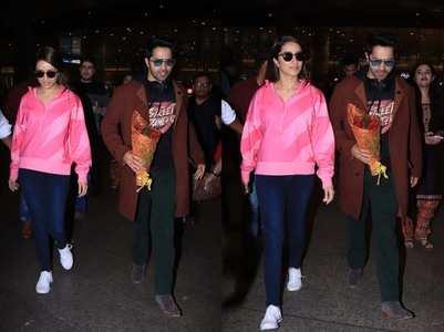 Photos: Varun & Shraddha arrive in style