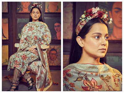 Kangana pulls off a Frida Kahlo look