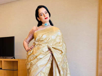 How to style silk saris like Kangana Ranaut
