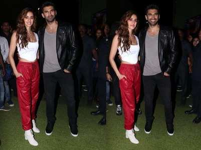 Aditya-Disha are all smiles for the paparazzi