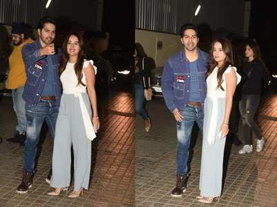 Photos: Varun-Natasha make for a happy couple