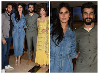 Katrina poses with Vicky Kaushal's brother