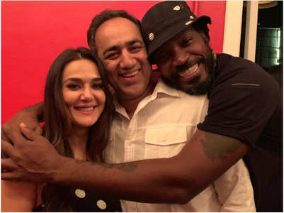 Preity shares throwback pic with Chris Gayle