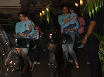 Photos: Taimur and mommy Kareena twin in blue