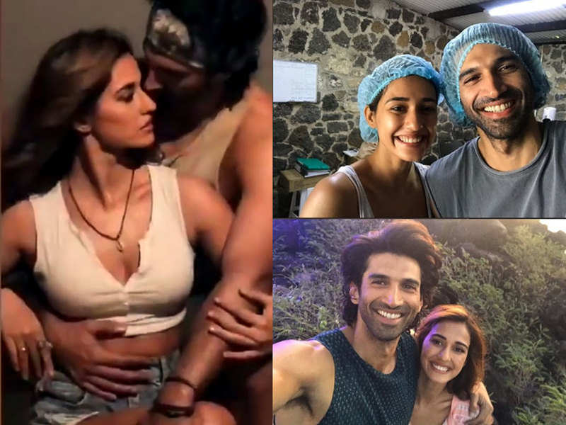 Malang Bts Videos Of Disha Patani And Aditya Roy Kapur Prove They Can Be Real Hotties And Total Goofballs At The Same Time Hindi Movie News Times Of India