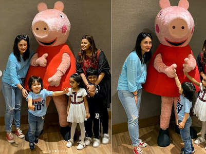 Watch Taimur's reaction on meeting Peppa Pig