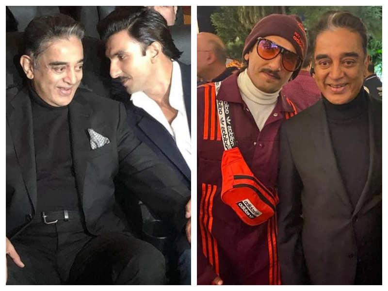 Photos: Ranveer Singh bonds with Kamal Haasan at the launch of Kabir Khan's ''83'