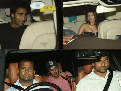 PICS:Tara Sutaria-Aadar Jain party together