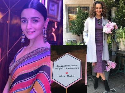 Alia congratulates Kangana for Padma Shri