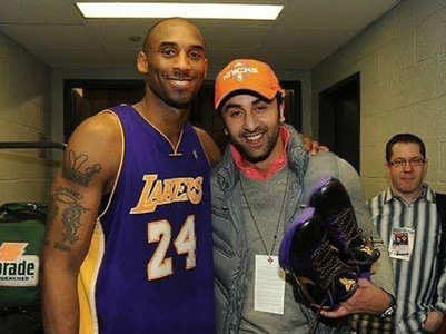 Ranbir's throwback click with Kobe Bryant