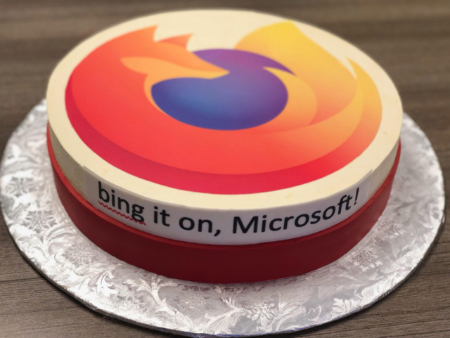 Why Google, Mozilla sent cakes to Microsoft