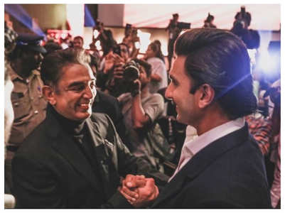 Pic: Ranveer is star-struck as he meets Kamal
